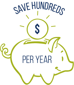 Save hundreds per year